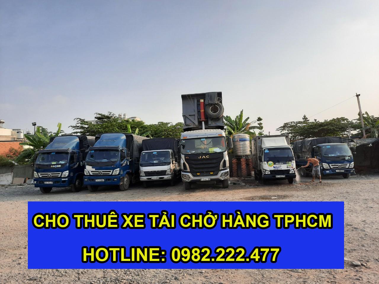 Cho thuê xe cẩu hàng giá rẻ tại tphcm