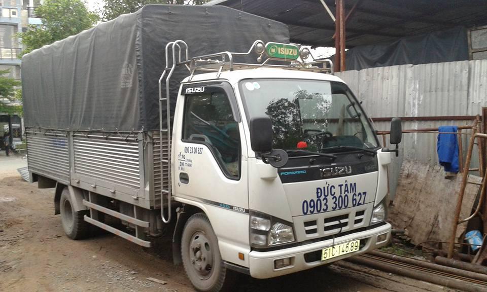 Cho thuê xe tải cẩu hàng giá rẻ - 0989114114