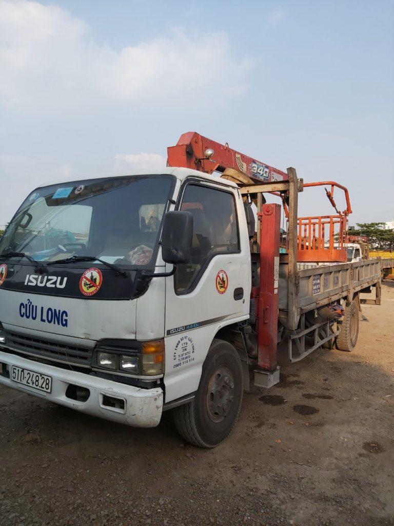 Công ty vận tải Cửu Long nhận cho thuê xe cẩu hàng giá rẻ hàng đầu hiện nay tại tphcm