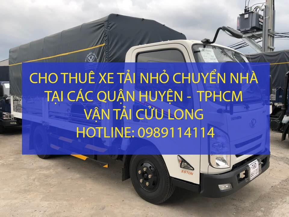 Xe tải nhỏ chuyển nhà tại TPHCM – Vận tải Cửu Long