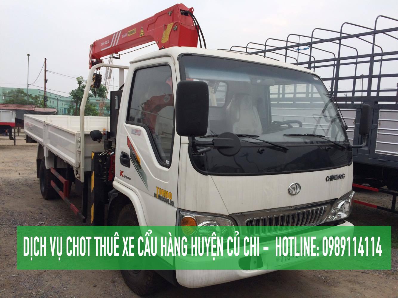Dịch vụ cho thuê xe cẩu hàng tại Huyện Củ Chi – [ Vận tải Cửu Long ]