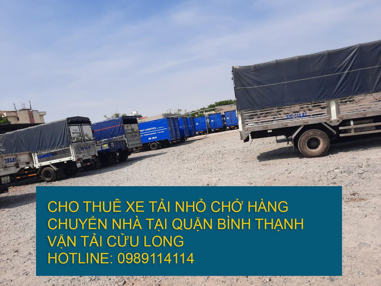Cho thuê xe tải nhỏ chuyển nhà giá rẻ tại Quận Bình Thạnh
