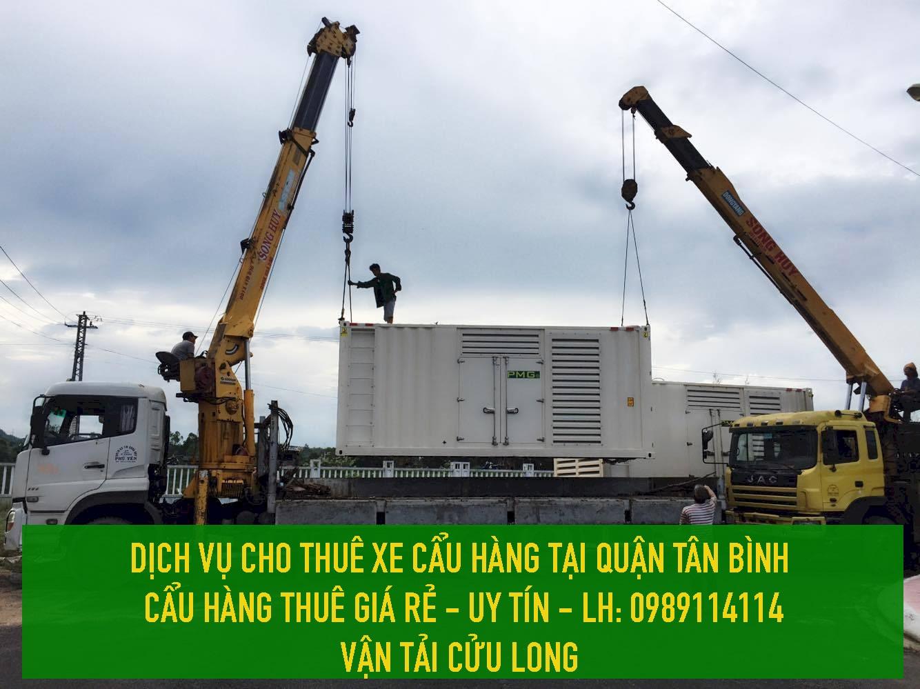 Cho thuê xe cẩu hàng Quận Tân Bình - [ UY TÍN – CHUYÊN NGHIỆP ]