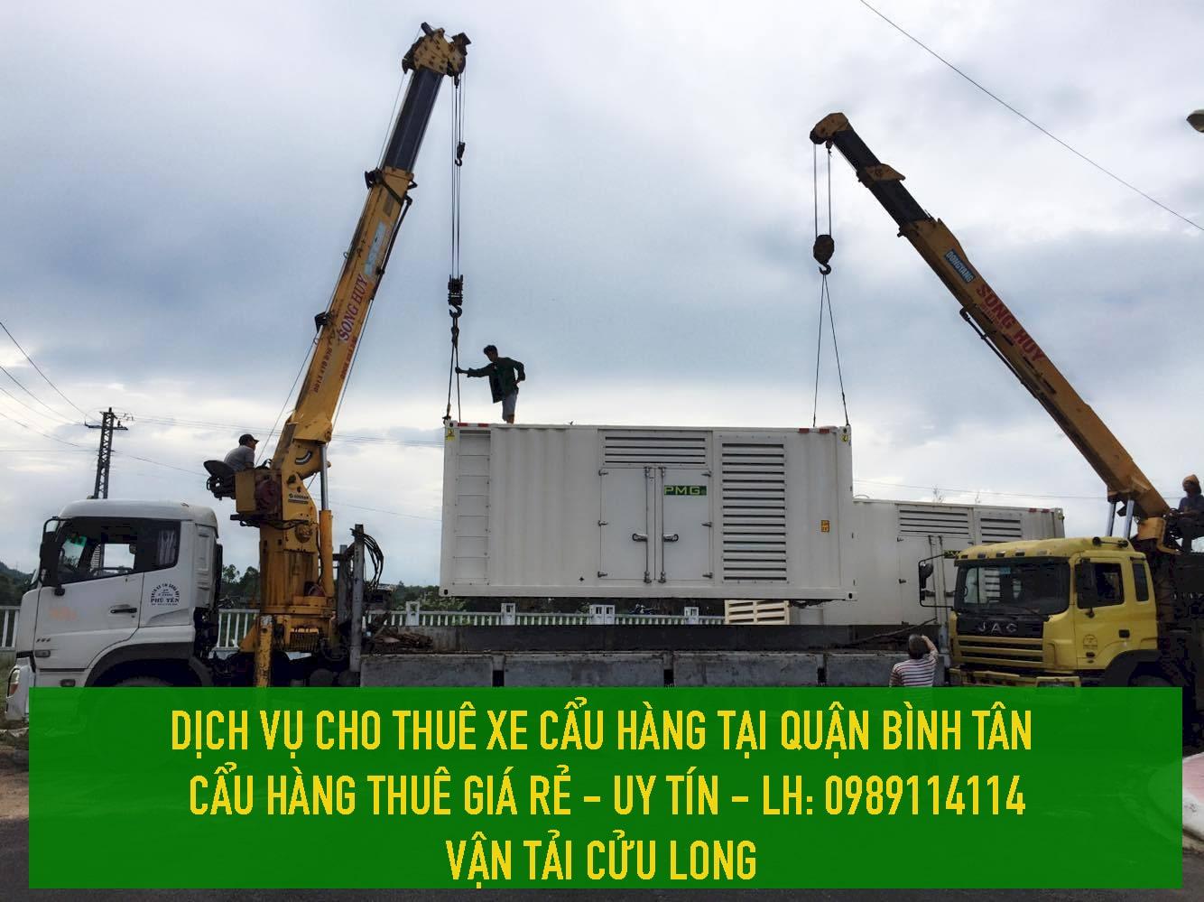DỊCH VỤ cẩu hàng thuê tại Quận Bình Tân