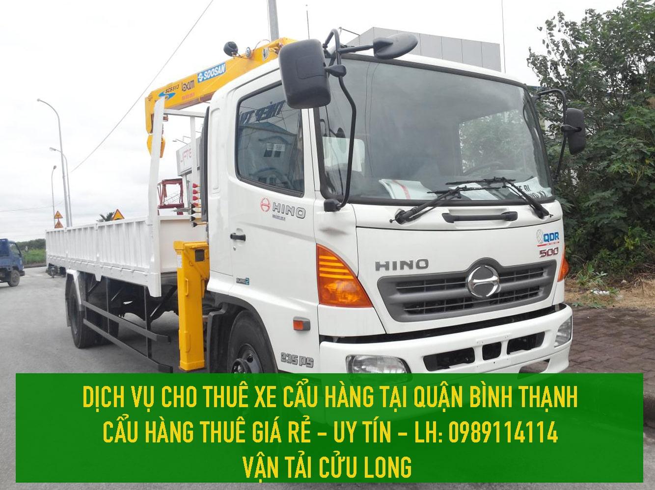 Dịch vụ cho thuê xe cẩu hàng giá rẻ Quận Bình Thạnh – 0989114114